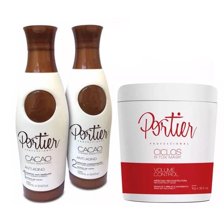 Portier Cacao Escova Progressiva + Redutor Ciclos 1Kg