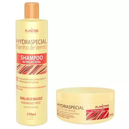 Kit Banho de Verniz Plancton Shampoo 250ml e Máscara 250g