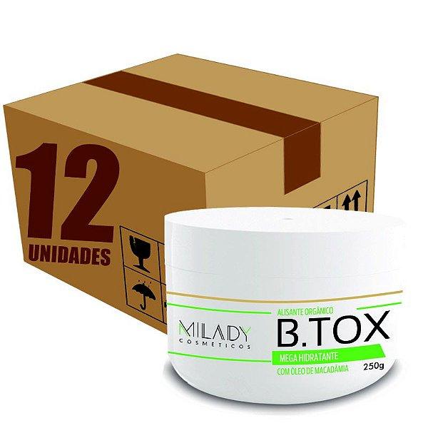 CAIXA FECHADA -Btox Alisante Organico 250g Milady Cosméticos