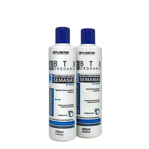 Kit BTX Orghanic Plancton Shampoo e Condicionador 250ml