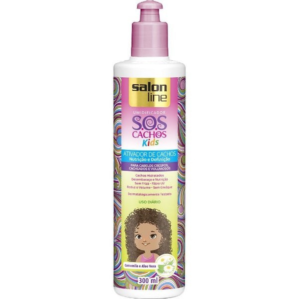 ATIVADOR DE CACHOS SOS KIDS SALON LINE 300ML