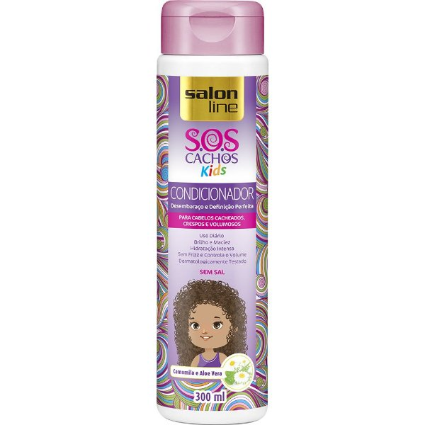 CONDICIONADOR S.O.S CACHOS KIDS SALON LINE 300ML