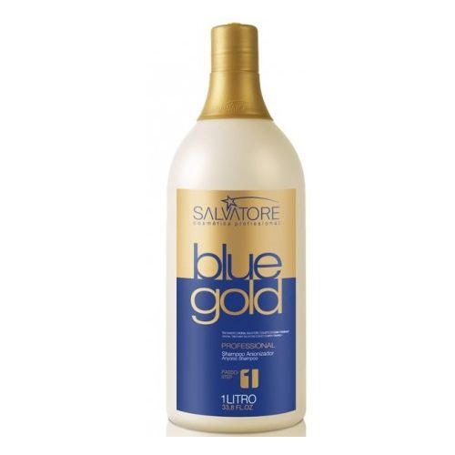 Salvatore Shampoo Anti Residuos Blue Gold 1L - Salvatore