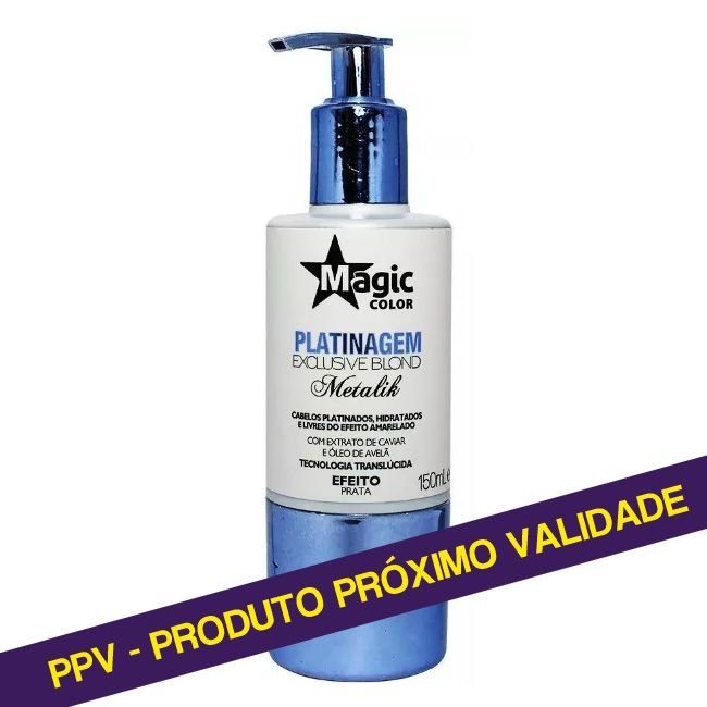 PPV Platinagem Magic Color Metalik Efeito Prata - 150ml