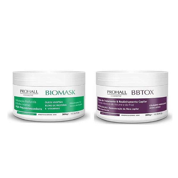 Prohall Kit Máscara Biomask 300Gr + BBtox Max 300Gr
