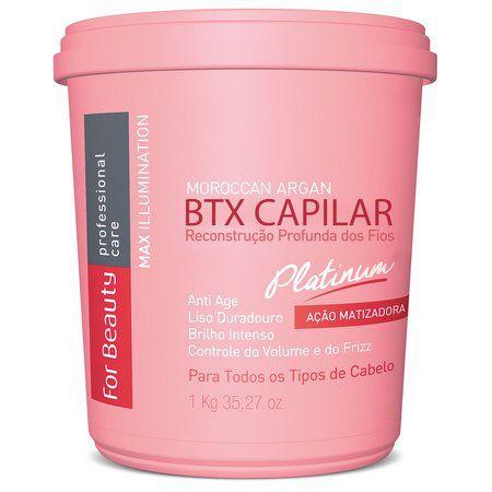 Botox Capilar Max Ilumination Argan Oil Platinum For Beauty 1Kg