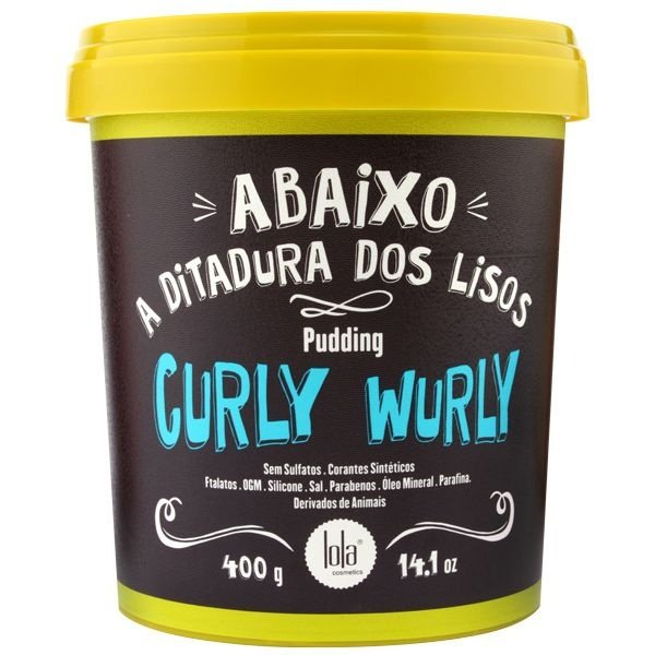Lola Curly Wurly Pudding Cabelos Crespos e Cacheados - 400g