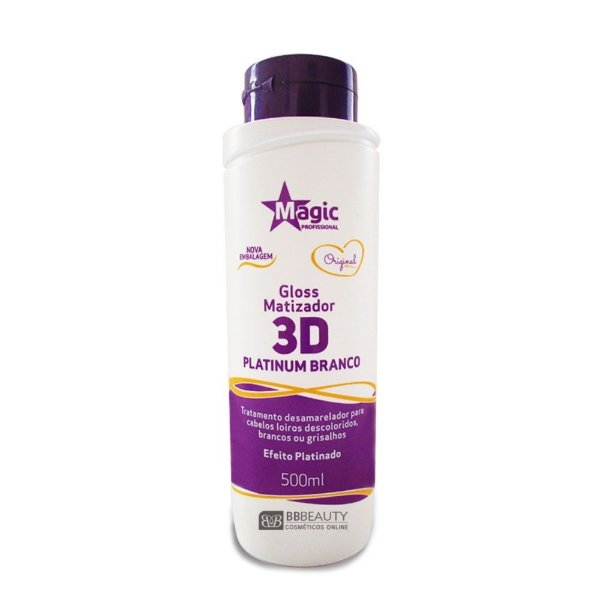 MAGIC COLOR 3D PLATINUM BRANCO - EFEITO PLATINADO - 500ML