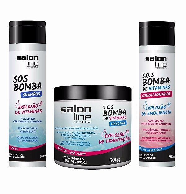 Kit Linha Bomba - Shampoo + Codicionador + Máscara