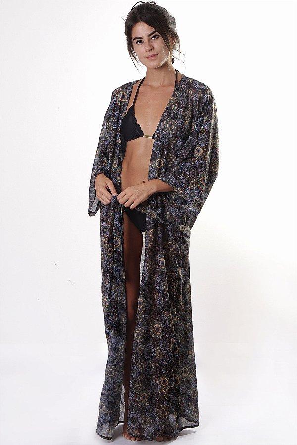 Kimono Longo - Estampa Mandalas
