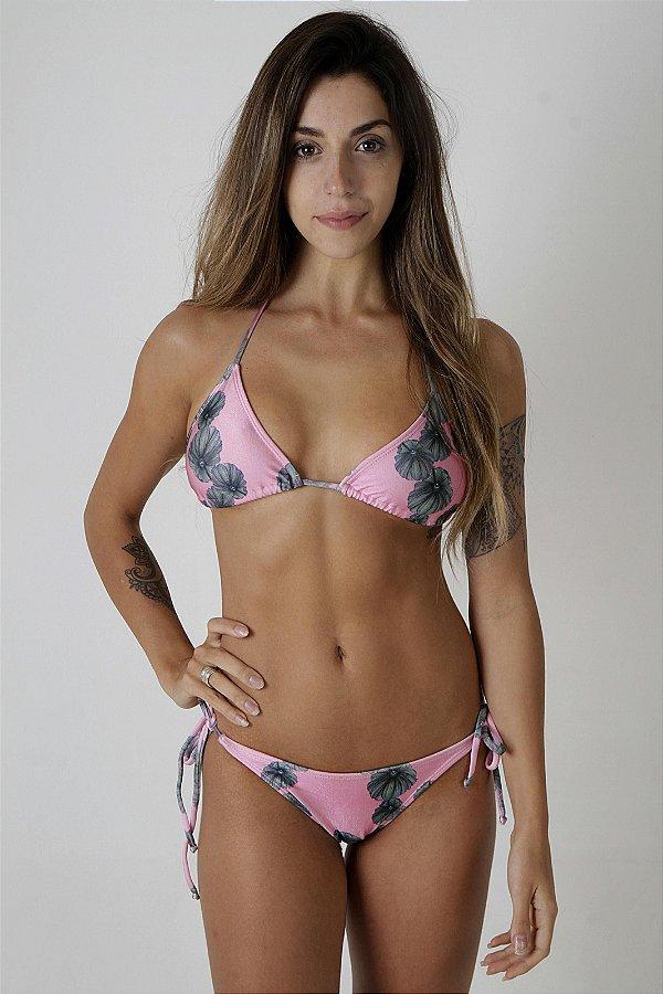 Top Cortininha Ibiza - Calcinha Franzido Ibiza - Estampa Blossom