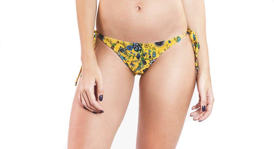 Calcinha Franzido - Abacaxi - Amarelo