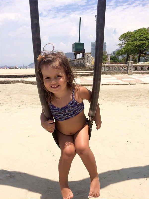 Biquíni - Infantil - Estampa Corais Azul