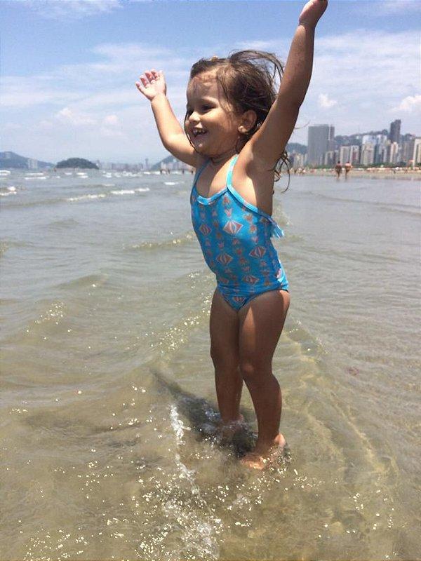 Maiô - Infantil - Estampa Vida Azul