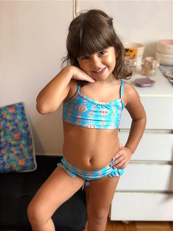 Biquíni - Infantil- Estampa Vida Azul