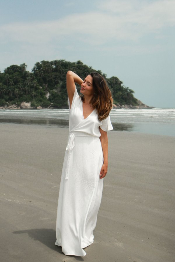 Vestido Transpasse - Off White