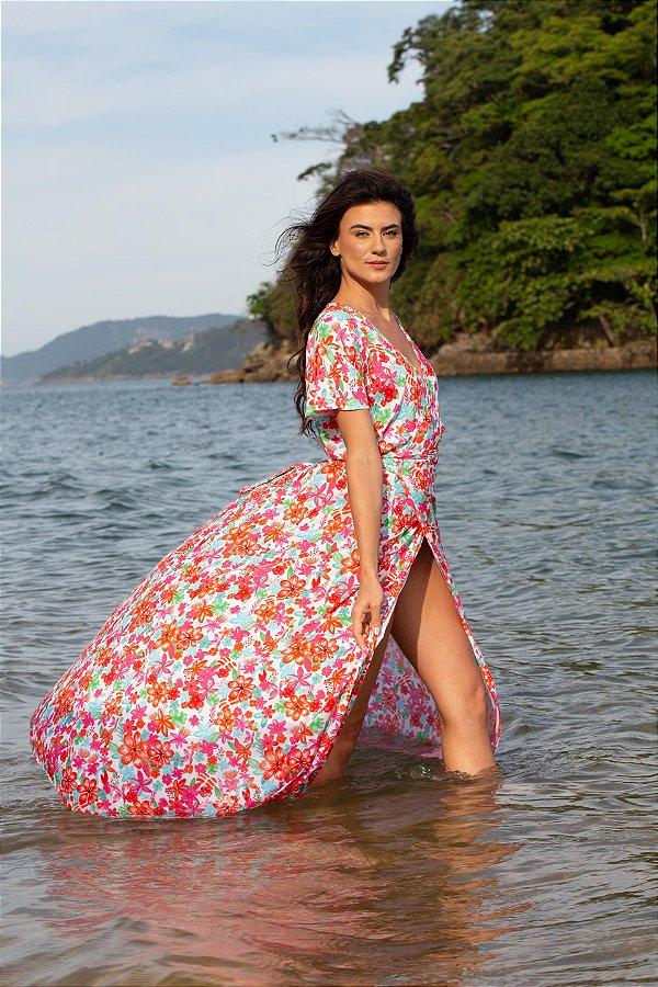 Vestido Transpasse - Estampa Bloom