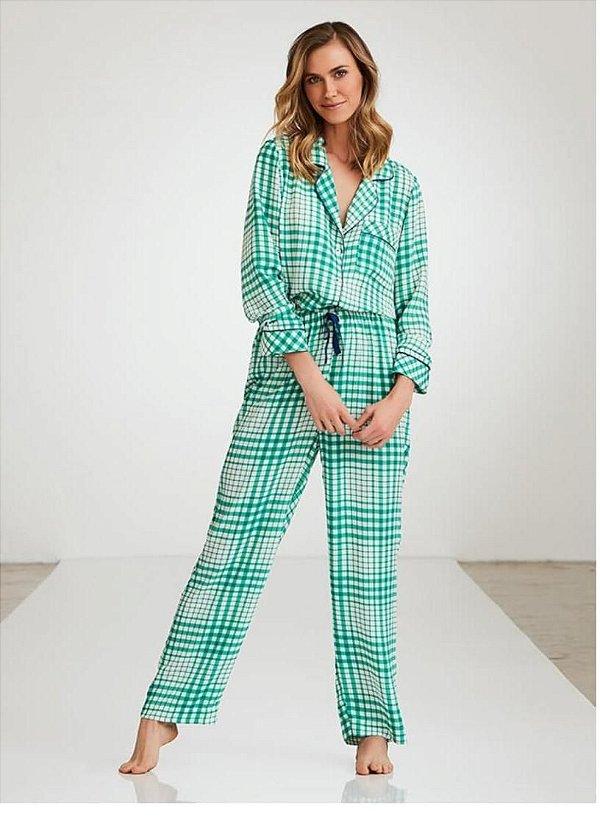 Pijama Xadrez Longo