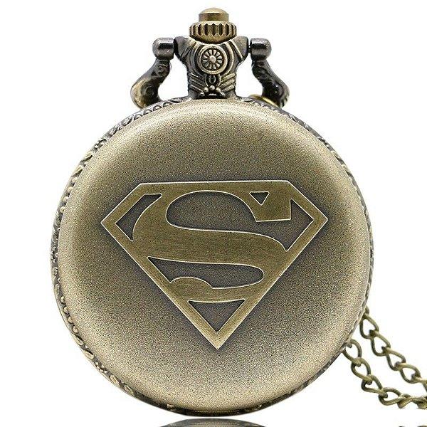 Relógio de Bolso - Super Homem
