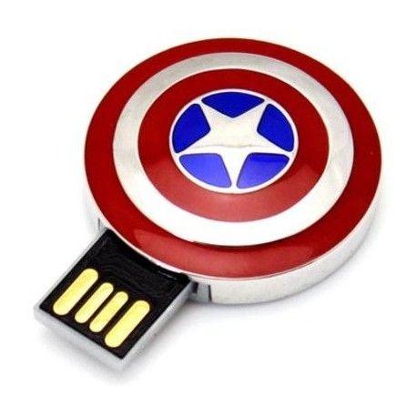 Pendrive 16GB - Escudo Capitão América