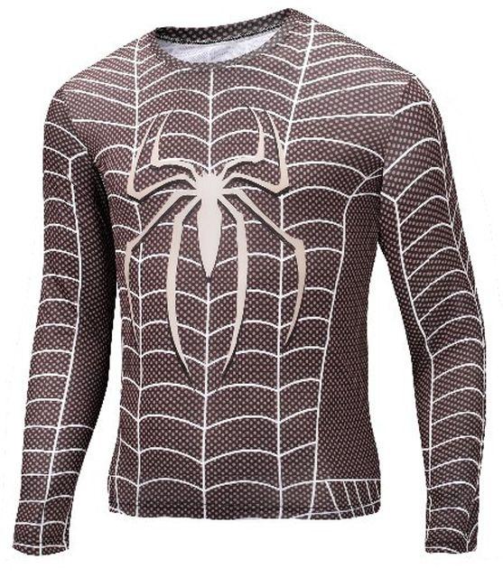 Camisa Homem Aranha Manga Black Comprida
