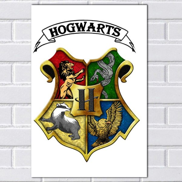 Placa Decorativa - Hogwarts Harry Potter