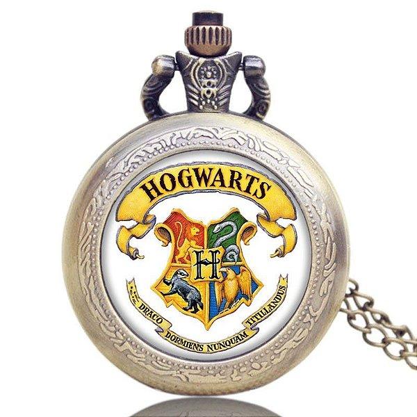 Relógio de Bolso - Harry Potter Hogwarts