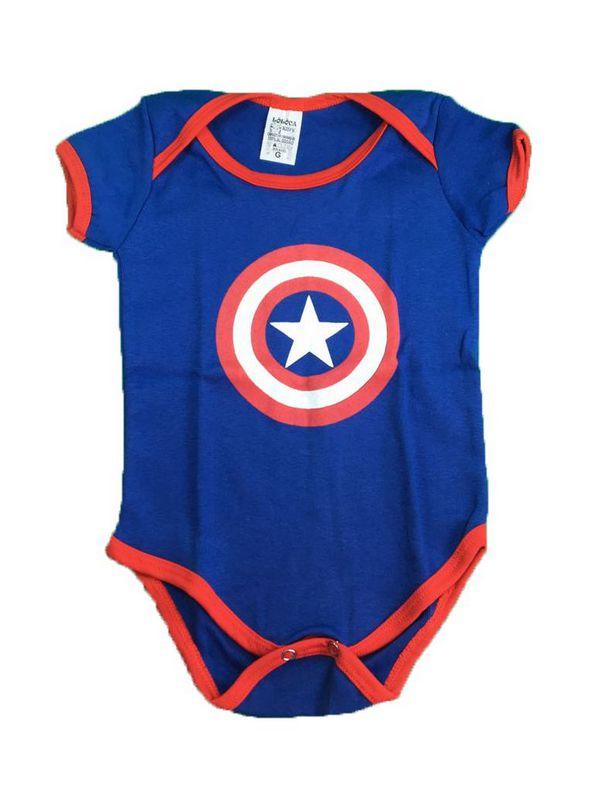 Body Bebê - Capitão América Escudo