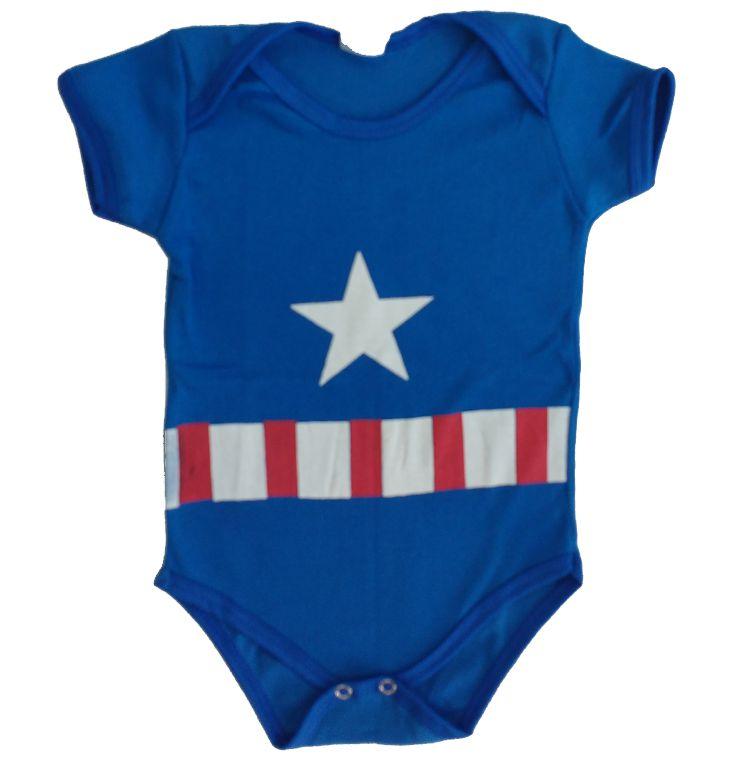 Body Bebê - Capitão América