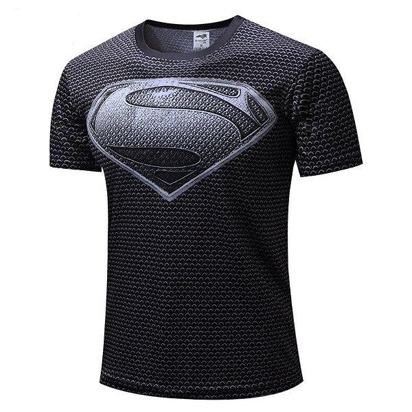 Camisa Super Homem Prata
