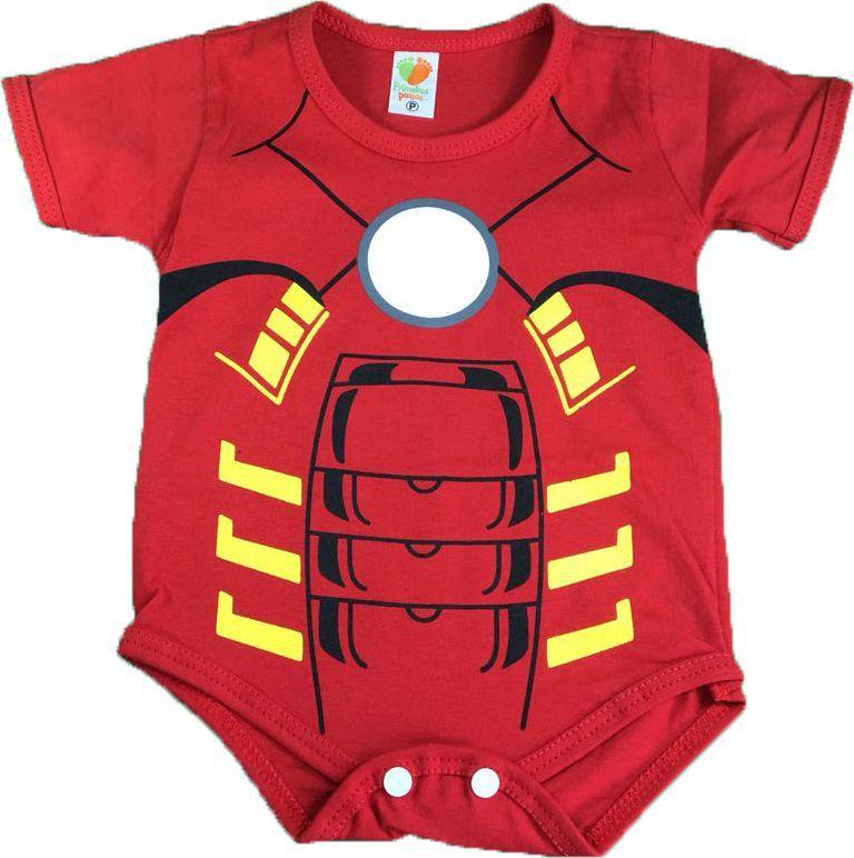 Body Bebê - Armadura Homem de Ferro