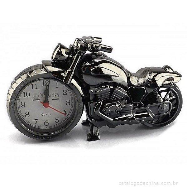 Relógio Despertador Moto Clássica