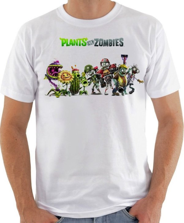 Camisa Plants VS Zombies