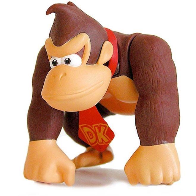 Boneco Donkey Kong - Super Mário Bros.