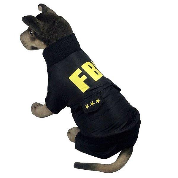 Roupa FBI para Cachorro