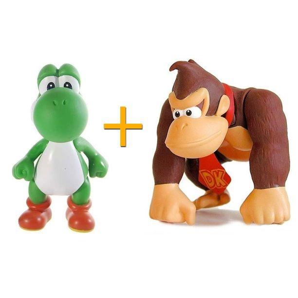 Bonecos Yoshi + Donkey Kong