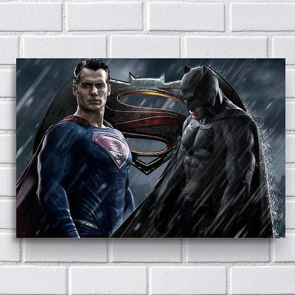 Placa Decorativa - Superman VS Batman
