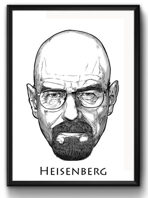 Quadro Heisenberg - Breaking Bad