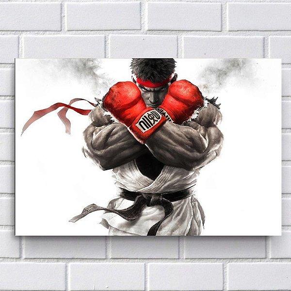 Placa Decorativa - Ryu - Street Fighter