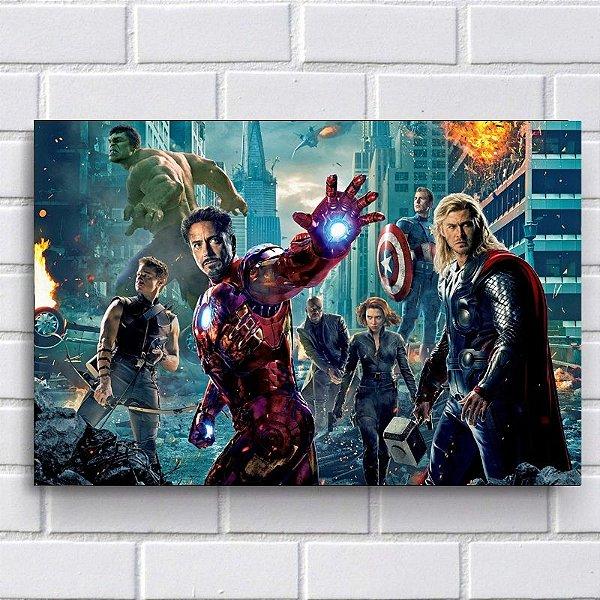 Placa Decorativa - Vingadores (Avengers)