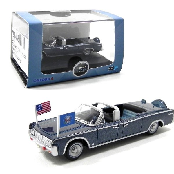 1961 LINCOLN CONTINENTAL X100 PRESIDENTIAL KENNEDY 1/87 OXFORD 87LC61001