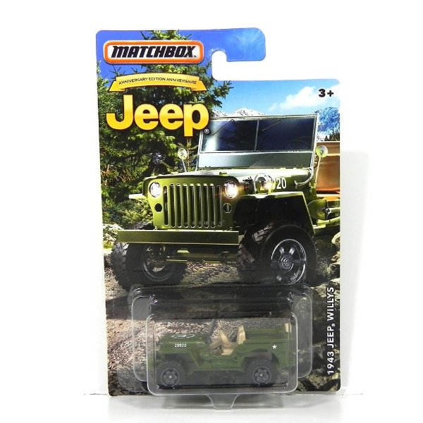 1943 JEEP WILLYS 1/64 MATCHBOX MATCHDMN28-2B10