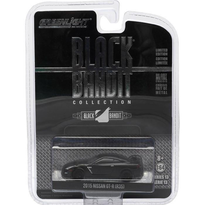 2015 NISSAN GT-R (R35) BLACK BANDIT 1/64 GREENLIGHT 27790