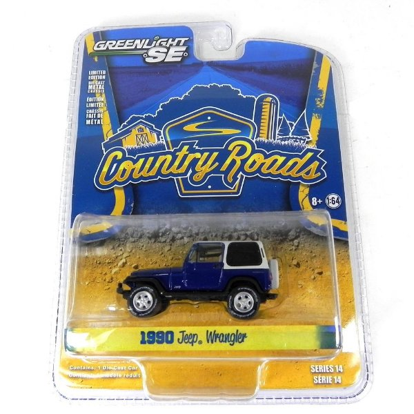 1990 JEEP WRANGLER COUNTRY ROADS SERIE 14 1/64 GREENLIGHT 29830