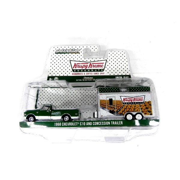 1968 CHEVROLET C10 AND CONCESSION TRAILER KRISPY KREME 1/64 GREENLIGHT 32040