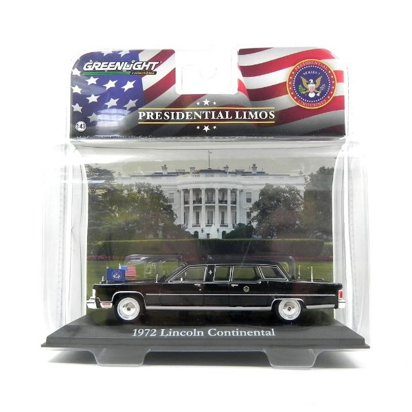 1972 LINCOLN CONTINENTAL GERALD R. FORD 1/43 GREENLIGHT PRESIDENTIAL LIMOS 86110-B