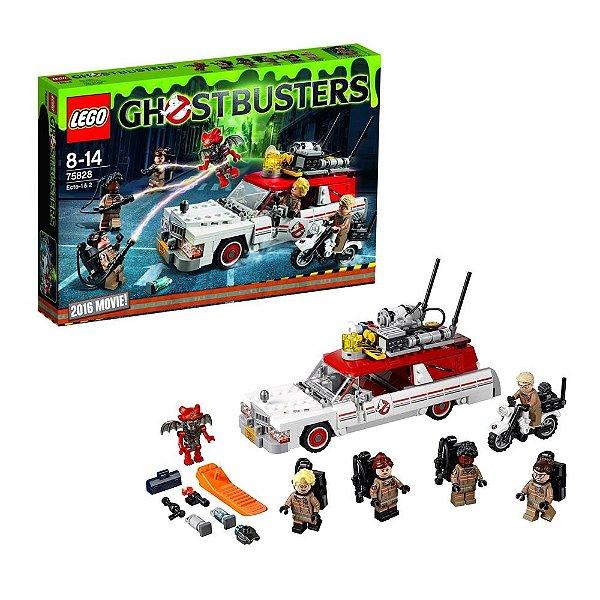 ECTO-1 & ECTO-2 GHOSTBUSTERS NOVO FILME OS CAÇA-FANTASMAS 2016 LEGO 75828