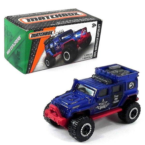 Jeep Wrangler Superlift 1/64 Matchbox Mbx Explorers Matchdnk97