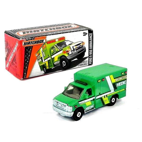 Ford E-350 Ambulance 1/64 Matchbox Mbx Heroic Rescue Matchdnk95