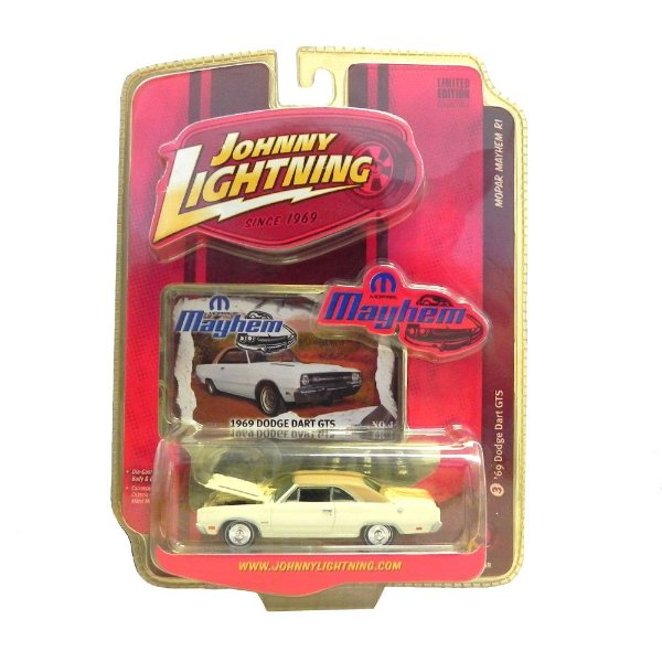 1969 DODGE DART GTS MOPAR MAYHEM R1 1/64 JOHNNY LIGHTNING JHN50258